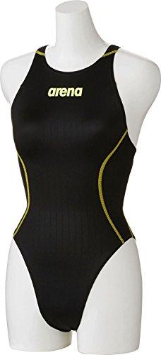 arena(アリーナ) 競泳用 水着 レディース X-パイソン2 リミック クロスバック FINA承認 ARN-7021W BKYL(ブラック) Oサイズ