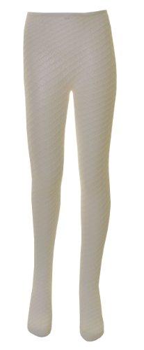 1Paar Polyamid-Spitzenstrumpfhosen für Mädchen mit Karomuster, in verschiedenen Farben und Größen erhältlich Gr. 0-6 Monate, cremefarben