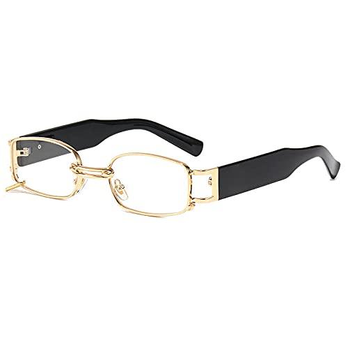 Gosunfly Nueva caja pequeña red gafas de sol rojas femeninas INS sombreado tendencia pendientes gafas vintage inkiroscópicas gafas en vivo-pie transparente blanco plano