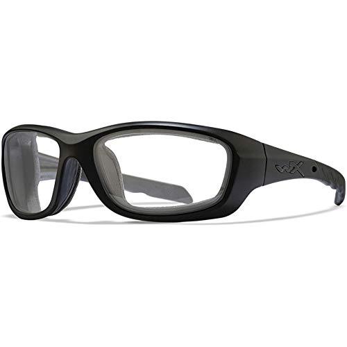 Wiley X Gravity 0.75mm Pb Lead Radiation Safety Glasses - Leaded X-Ray Protective Eyewear (Black) | Anti Reflective AR Fog Free Lenses