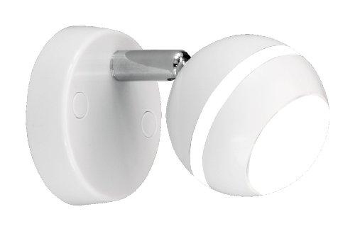 TRIO, Spot, Baloubet incl. 1 x LED,SMD,3,8 Watt,3100K,350 Lm. Corps: Plastique, Blanc Ø:8,0cm, P:15,0cm IP20