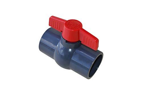 SPIRATO PVC Kugelhahn 50 mm Klebemuffe zur direkten Verklebung