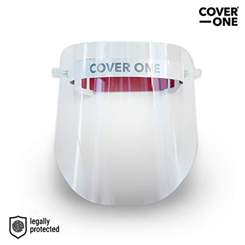 CoverOne - Visier Gesichtsschutz, Face Shield Maske. Leichter Kunststoff Verstellbar Transparent Gesichtsschutz Plexiglas (3)