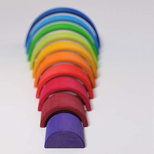 Grimm's Spiel und Holz Design Regenbogen 10 teilig, invertiert - 7