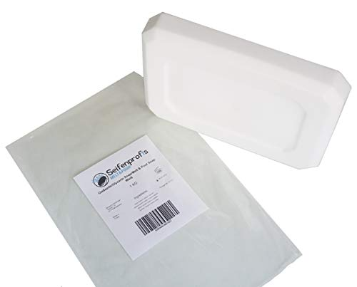 Jabón base de glicerina, transparente/blanco (libre de SLS), transparente (1kg blanco)