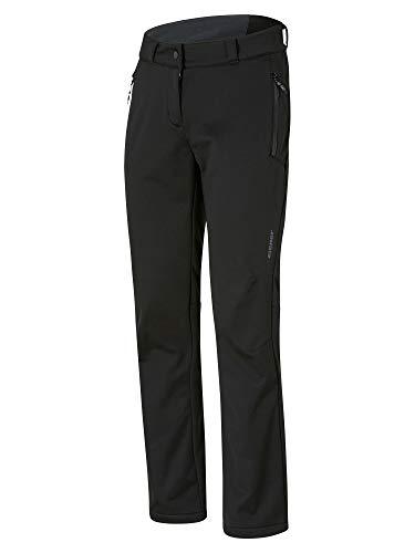 Ziener Damen TALPA Lady (Pant Active) Outdoor-/ Softshellhose, Winddicht, Atmungsaktiv, Black, 36