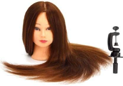VIEWS Hair Extensions And Wigs Saloon Use Dummy for Hair Styling, Practice, Cutting with a Clamp Stand