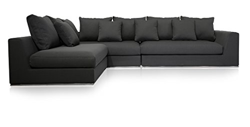 UrbanMod Modern Reversible Sectional Sofa Gray 120'- 170'