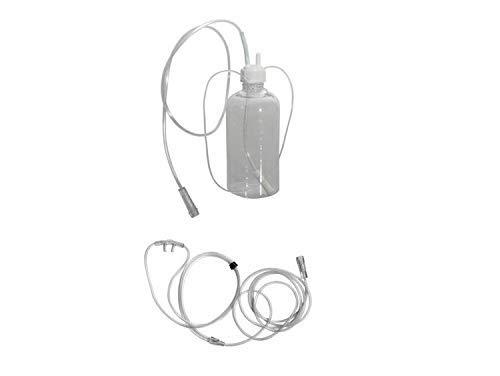 Kit humidificador borboteador y cánula nasal para oxigenoterapia ✅