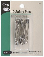 Dritz 44276 Upholstery Decorative Round Head Nails, Gold/Black, 3/8-Inch, 24-Pack by Prym Consumer USA (English Manual)