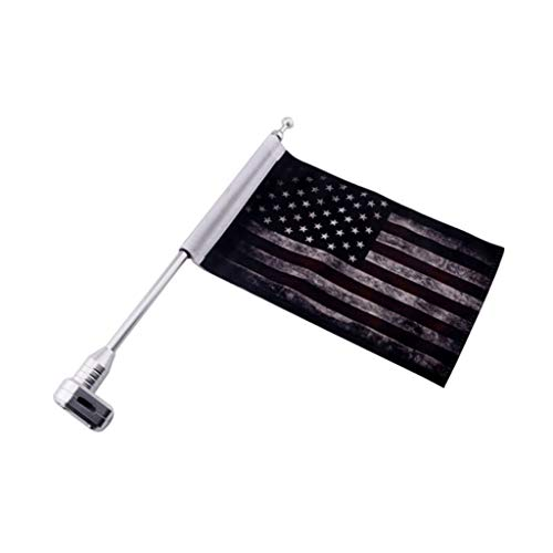 balikha 10 '' X 7 '' Adjustable American Retro Flag + Holder Holder
