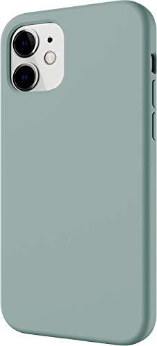 【SwitchEasy】 iPhone12mini 対応 ケース シリコン 携帯ケース 薄型 スリム ソフト カバー 耐衝撃 衝撃 吸収 指紋 防止 液体シリコン スマホケース [ iPhone12 mini アイフォン12 mini アイフォン12ミニ 対応 ] SKIN スカイブルー