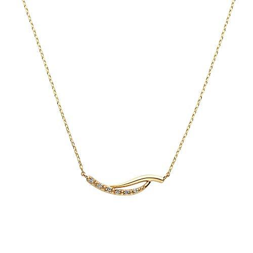 [ヴァンドーム青山] イエローゴールド ネックレス AJVN154040DI K10 ベーシックダイヤモンドネックレス