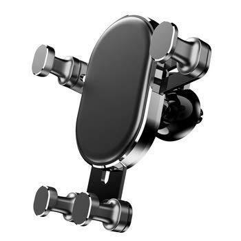 UTECH Soporte para móvil Coche, Nuevo Modelo 2020, Rejilla de ventilación o para salpicadero, Doble función, rotación Universal, sostenedor para iPhone Samsung moviles y Dispositivo GPS, Black.