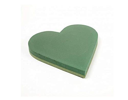 2 x Floral Foam Backed Hearts Funeral Tribute Wet Foam Oasis Val Spicer (18 inch)
