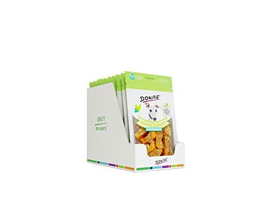 DOKAS Getreidefreier Premium Snack mit Hühnerbrust für Hunde , Süßkartoffel, 10 x 70g