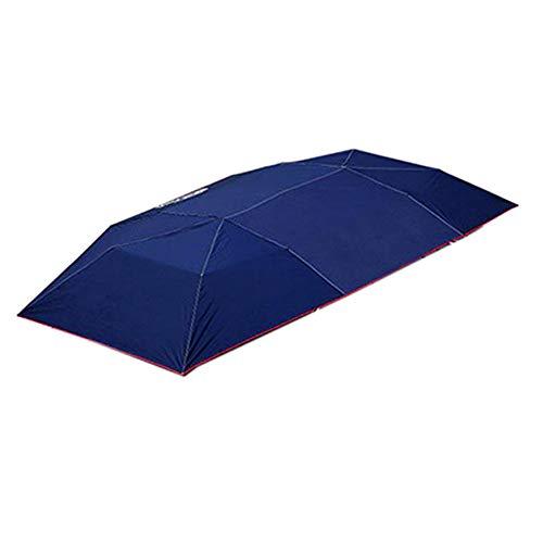 ZXLIFE@@ Automatischer Autoschirm, Carport für Autozelte Kabelloses Autodach Sonnenschutz Zelt mit Fernbedienung Leicht zu reinigen 8s Installation Langlebig,Blue