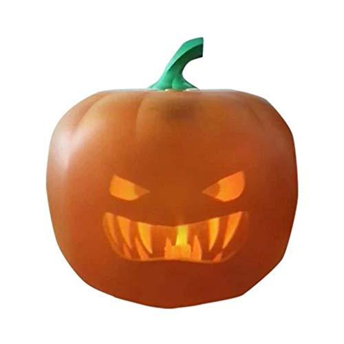 BINGBIAN Halloween sprechender animierter Kürbis mit integriertem Projektor und Lautsprecher, 3-in-1 Pro Halloween-Dekoration