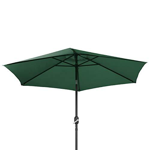 Ribelli Ombrellone Parasole ombrellone da Giardino ombrellone da Spiaggia Balcone Protezione dal Sole, colorazione:Verde Scuro, Diametro:270 cm