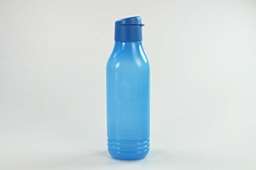 TUPPERWARE Eco 750ml To Go Trinkflasche EcoEasy Flasche Öko dreieckig blau 14170