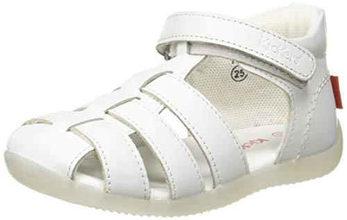 Kickers Bigflo-2, Sandalias Unisex niños, Blanco (Blanc 3), 18 EU