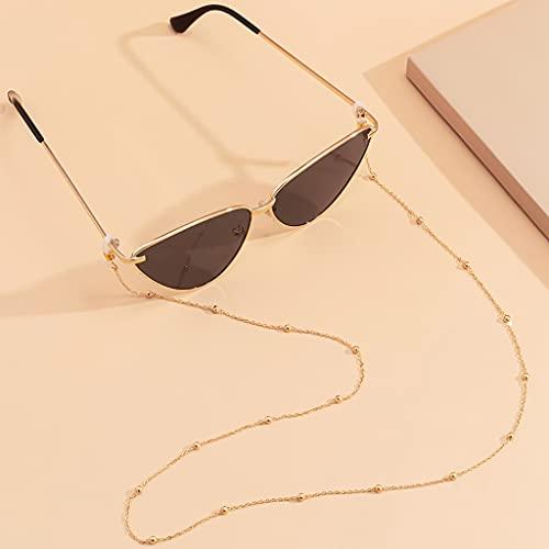 MIKUAU collarSimple Minimalist Bead Sunglasses Eyeglasses Chain Geometric Reading Glasses Chain Cord Holder Lanyard Neck Strap