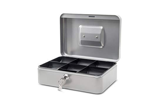 Maul Geldkassette 3, Silber, Herausnehmbarer Hartgeldeinsatz, 250 x 90 x 191 mm, 5611395, 1 Stück