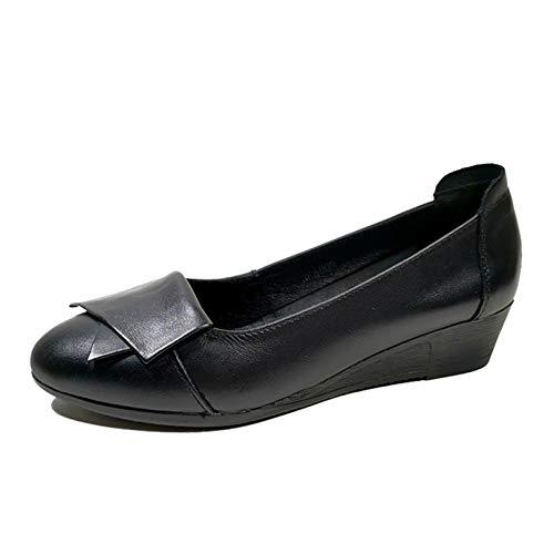 Zapatos de Mujer Tacón de cuña Elegante Boca Baja Primavera Verano Deslizamiento en el Uso Diario Todos los días Zapatos Gruesos ultraligeros