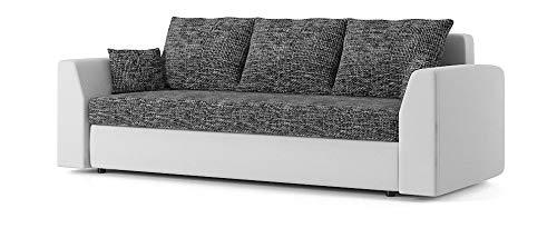 Sofini Couch Paul mit Schlaffunktion! Best Couch! Couch mit Bettkasten! (Lawa 17+ Soft 17)