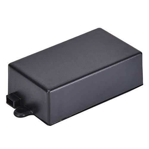 Caja de proyecto electrónico ABS, caja de caja de proyecto DIY Caja de placa de circuito de caja de plástico negro 65 x 38 x 22 mm (paquete de 5)