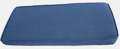 Find Discount Box Edge Piano Bench Cushion Pad 3 Thick in Mineral Blue (14.5 x 35)