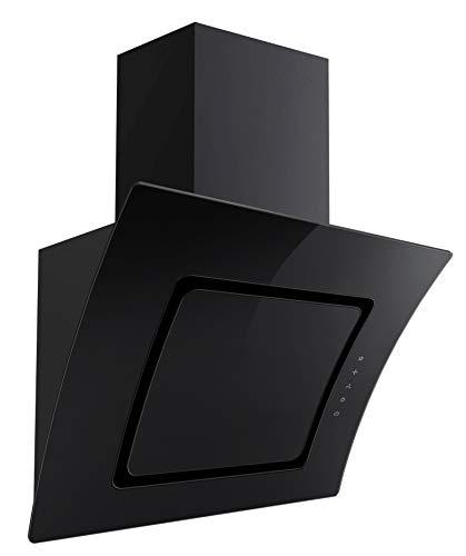 Dunstabzugshaube S2-90ABTZ 90cm schwarz Glas Kopffreihaube