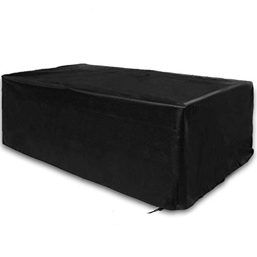 WOMACO 7 8 9 ft Pool Table Covers, Full Protection Waterproof Billiard Cover Polyester Fabric for Snooker Billiard Table (Black, 7 ft)