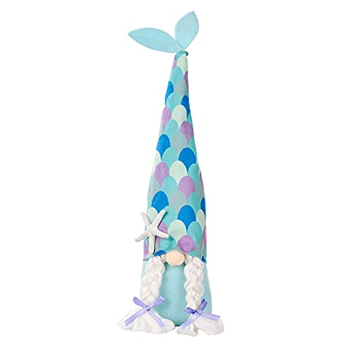 Shenrongtong GNOME Doll, Summer Dress-up Ocean Cap GNOME Doll Handicrafts Dress-up Faceless Doll Decor For Party Decoration Family Dining Table Decor