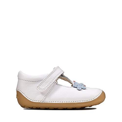 Clarks CLA Tiny Sun T White Leather 22