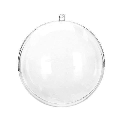 Moent Décor à la Maison Décorations de Noël Boule Transparente Peut Ouvrir Noël Décorations Ornements Clairs Ball Room Decor