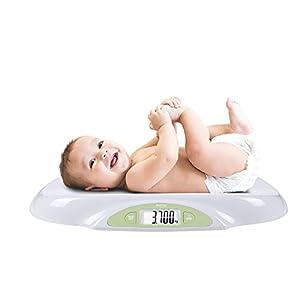 Bascula para Bebés y Mascotas. Balanza digital con pantalla LCD Retro iluminada. Para bebes recién nacidos. Función ZERO y TARA precisión de 5 gramos Pilas Incluidas Capacidad 25Kg Modelo BA105