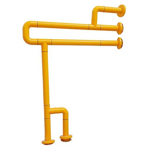 Badkamer Aids Veiligheid Badkamer Leuning Met Benen Nylon Non-slip Toilet Toilet Toilet Wastafel Onbelemmerde Leuning Geschikt for Ouderen met een handicap 60 * 70CM (Color : Yellow)