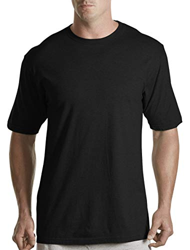 Harbor Bay by DXL Big and Tall Color Crewneck T-Shirts, Black 5XLTall, Pack of 3