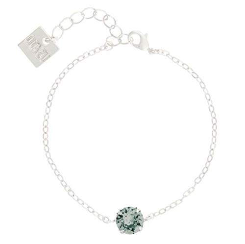 Otazu Handgefertigte Schwarze Diamant Solitaire Armkette Für Frauen - Armkette Für Mädchen - Swarovski Kristalle mit Rhodium Beschichtung - Elegant & Modernes Armband Für Casual & Formelle Outfits