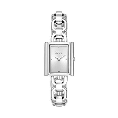 Dkny Ny2798 Reloj Dkny Dama, Extensible Acero Plata, Caratula Plata, Analogo For Accesorios, Plata, Mujer Estándar