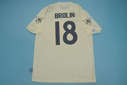 ZA Thomas BROLIN LEEDS United Retro Soccer Trikot 1995-1996 Size XL