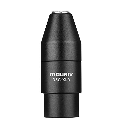 Adaptador TRS a XLR, Mini-Jack Mouriv 3.5mm (TRS) Adaptador de micrófono hembra a conector macho XLR de 3 pines Compatible con videocámaras, grabadores, mezcladores