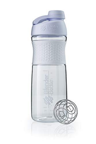 BlenderBottle Sportmixer Twist Clear/White Botella mezcladora, Unisex Adulto, 590ml