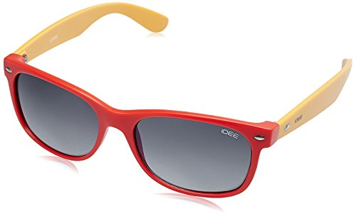 IDEE Wayfarer Unisex Sunglasses - (IDS1844C11SG|100|Red and Yellow Color)