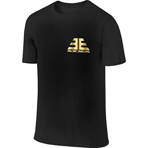 Imagine The Dragons Jugend Männer T-Shirt Golf Poloshirts Kurzarm S-6xl Casual Fitness Shirts Rundhalsausschnitt Baumwolle Sport Top L