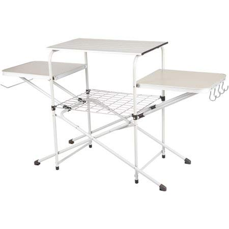 Ozark Trail Camp Kitchen Cooking Stand with Three Table Tops