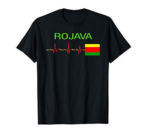 Rojava kurdistan - kurdische flagge T-Shirt