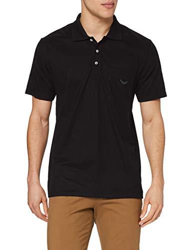 Trigema Herren Trigema Herren Single-jersey 637602 Poloshirt, Schwarz (Schwarz 008), 5XL EU