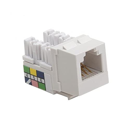 Platinum Tools 723WH-50 Keystone Jack, Cat3, 6 Pin, 110, 50 Piece/Installer Pack, White